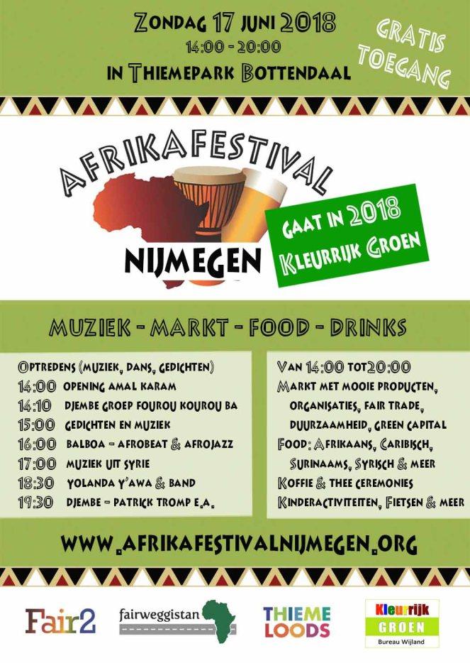 Afrikafestival gaat kleurrijk Groen 2018jun